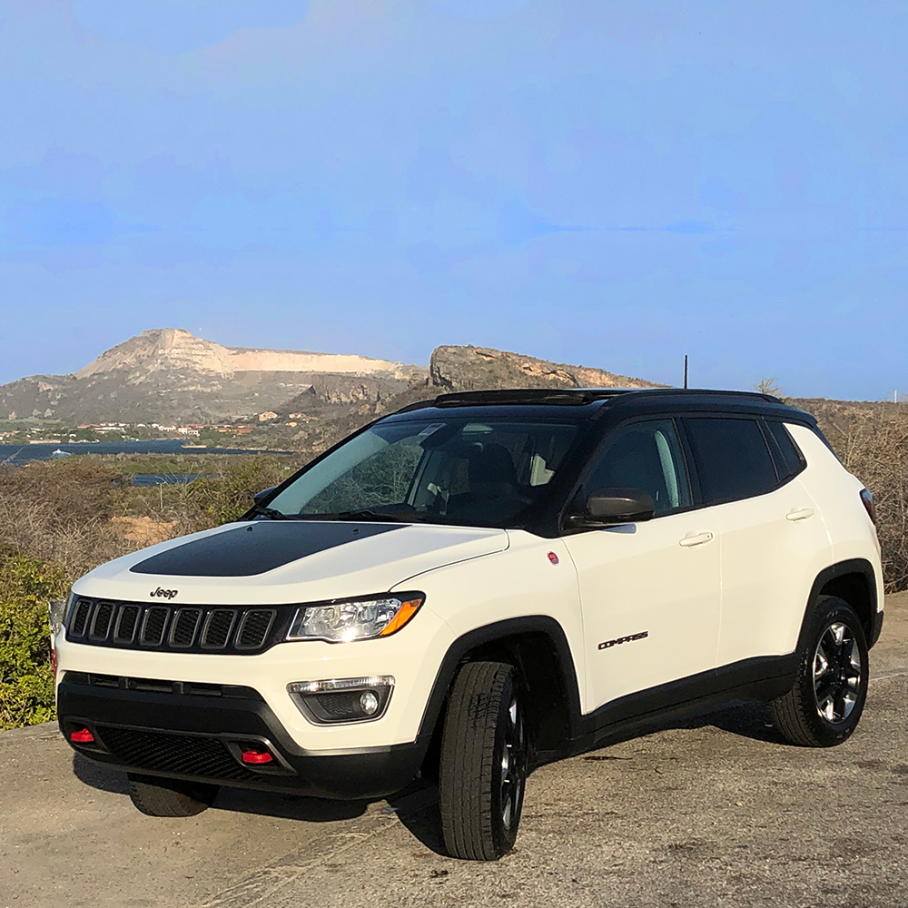 Jeep Compass white - USD 80 p.d.*